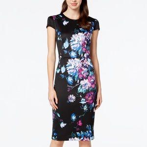 Betsey Johnson Fall Floral Cap Sleeve Dress